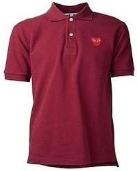 Camisa polo burdeos de Comme des Garcons