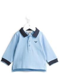 Camisa polo celeste de Armani Junior