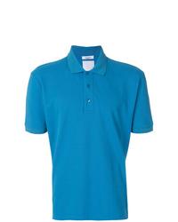 Camisa polo con adornos azul de Valentino