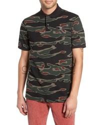 Camisa polo de camuflaje verde oscuro