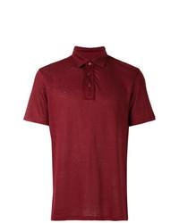 Camisa polo de lino burdeos de Ermenegildo Zegna