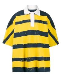 Camisa polo de rayas horizontales amarilla de Botter