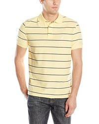 Camisa polo de rayas horizontales amarilla de Nautica
