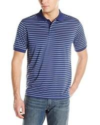 Camisa Polo de Rayas Horizontales Azul Marino de Izod