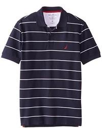 Camisa Polo de Rayas Horizontales Azul Marino de Nautica