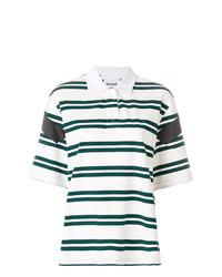 Camisa polo de rayas horizontales blanca de Koché