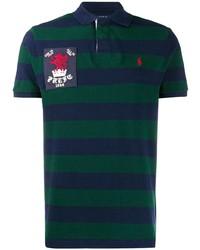 Camisa polo de rayas horizontales en azul marino y verde de Polo Ralph Lauren