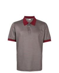 Camisa polo de rayas horizontales en multicolor de Brioni