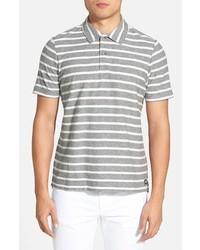Camisa polo de rayas horizontales gris