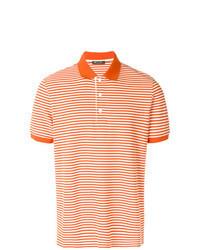 Camisa polo de rayas horizontales naranja
