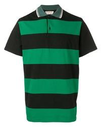 Camisa polo de rayas horizontales verde de Marni