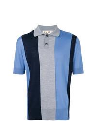 Camisa Polo de Rayas Verticales Azul