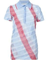 Camisa polo de tartán celeste de Stella McCartney