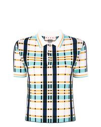 Camisa polo de tartán en multicolor de Marni