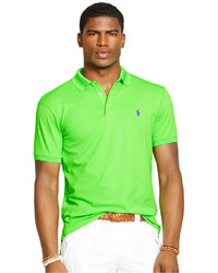 Camisa polo en amarillo verdoso