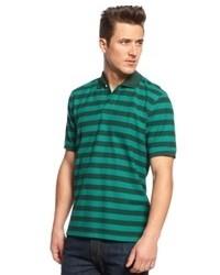 Camisa polo en azul marino y verde