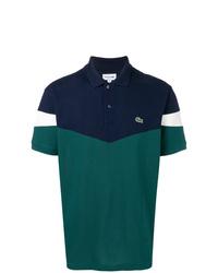 Camisa polo en azul marino y verde de Lacoste