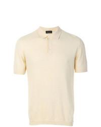 Camisa polo en beige
