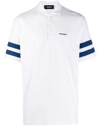 Camisa polo en blanco y azul marino de DSQUARED2