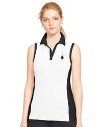 Camisa polo en blanco y negro