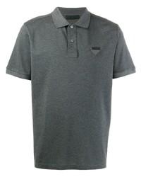 Camisa polo en gris oscuro de Prada