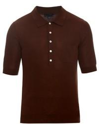 Camisa polo en marrón oscuro
