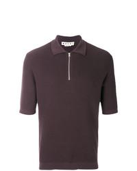 Camisa polo en marrón oscuro de Marni