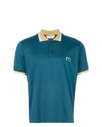 Camisa polo en verde azulado de Marni