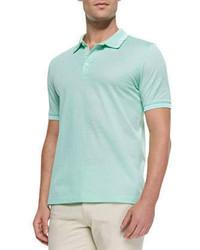 Camisa polo en verde menta