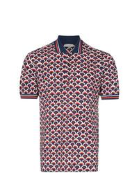 Camisa polo estampada azul marino de Valentino