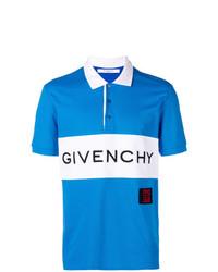 Camisa polo estampada azul de Givenchy