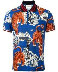 c90698d55 Comprar una camisa polo azul Gucci | Moda para Hombres | Lookastic ...