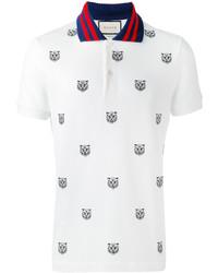 1c7a94281 Comprar una camisa polo estampada blanca Gucci | Moda para Hombres ...