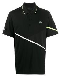 Camisa polo estampada en negro y blanco de Lacoste