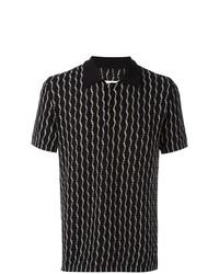 Camisa polo estampada en negro y blanco de Maison Margiela