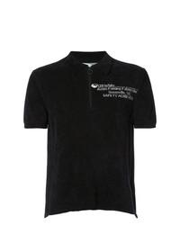 Camisa polo estampada en negro y blanco de Off-White