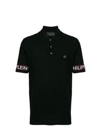 Camisa polo estampada en negro y blanco de Philipp Plein