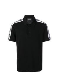 Camisa polo estampada en negro y blanco de Versus