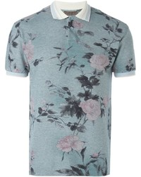 Camisa polo estampada gris