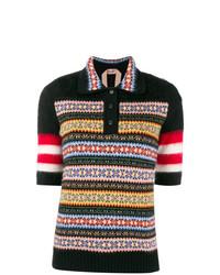 Camisa polo estampada negra de N°21
