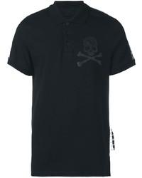 Camisa polo estampada negra de Philipp Plein