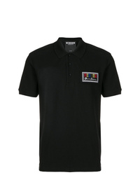Camisa polo estampada negra de Versus