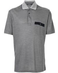 Camisa polo gris de Dolce & Gabbana
