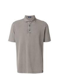Camisa polo gris de Drumohr