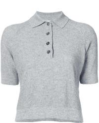 Camisa Polo Gris de Oscar de la Renta