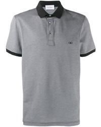 Camisa polo gris de Salvatore Ferragamo