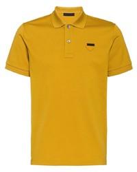 Camisa polo mostaza de Prada