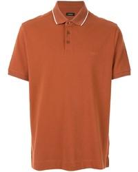 Camisa polo naranja de Ermenegildo Zegna