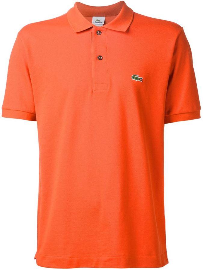 5287c99dbfcc2 ... Camisa polo naranja de Lacoste