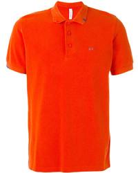 Camisa polo naranja de Sun 68